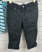 JUSTICE Beaded Stripe Top + Black Capri Pants Girls Size 12 Outfit Set image 6