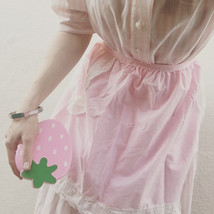 Sweet Pink Apron With Lace - $15.00