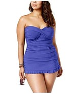 Profile by Gottex Plus Size Tummy-Control Ruched Ruffled Swimdress - $67.12