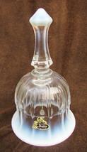 "Fenton white opalescent bell original label 6 1/2"" smooth edge - $19.95"