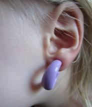 Vintage Pastel Purple 80s Hoop Clip-on Earrings - $19.99