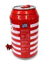 128 oz American Flag Soda Pop Can Beverage Drink Dispenser USA Container... - $16.21 CAD