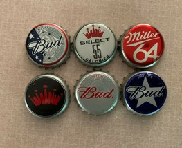 vintage old retro antique Budweiser and Miller beer bottle caps collecti... - $19.00