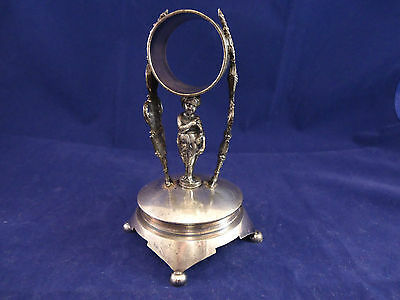 Primary image for New Haven Silverplate Figural Napkin Ring with Child Under Ring