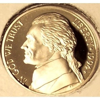 Primary image for 1994-S DCAM Proof Jefferson Nickel PF65 #0574