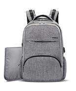 BRINCH Diaper Bag Backpack with USB Charging Port,Stylish Unisex Baby Di... - $31.65