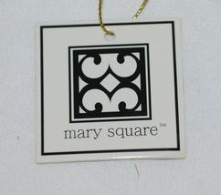 Mary Square 7952 Off White Gold Zipper Tassel Movement Pouch image 6