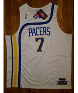 BNWT Authentic Reebok 1972-73 Indiana Pacers HWC Jermaine O'Neal Home Je... - $309.99