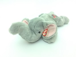 "2000 Ty Beanie Buddies Righty Elephant American Flag Tag Plush 16"" Polit... - $17.81"