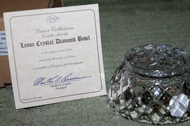 "Lenox    *LEAD CRYSTAL DIAMOND BOWL*    NIB  w/COA   Approx 3 1/2"" - $7.99"
