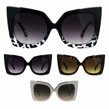 Womens Squared Cateye Tip Butterfly Thick Plastic Sunglasses - $12.95
