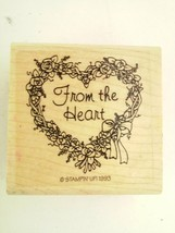Stampin Up From the Heart Rubber Stamp 1993 - $6.64