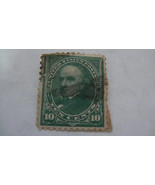 Dark Green Vintage USA Used 10 Cent Stamp - $7.86