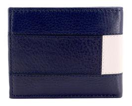 Tommy Hilfiger Men's Premium Leather Double Billfold Passcase Rfid Wallet Navy image 5