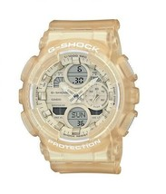 New Casio G-Shock Analog Digital Transparent Women's Watch GMAS140NC-7A - $110.00