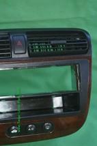 01-05 Acura EL Honda Civic Radio Bezel AC Control Dash Vents WoodGrain Trim image 2