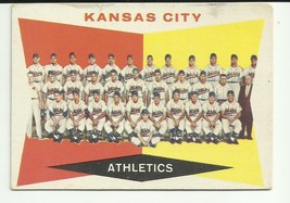 KANSAS CITY ATHLETICS 1960 TOPPS #413 TEAM CARD & CHECKLIST UNMARKED - $4.13