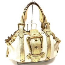 AUTHENTIC LOUIS VUITTON Tear - Trianon Teda GM Hand Bag Gold/White M92391 - $995.48 CAD
