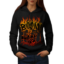 Skeleton Drummer Sweatshirt Hoody Playing Music Women Hoodie - $21.99+