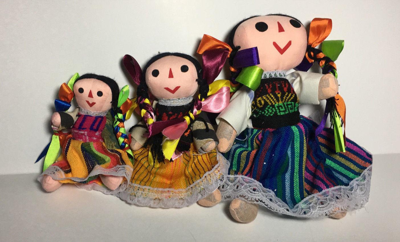 "9"" Mexican Rag Dolls Artisan HandMade Maria Costume Fair Trade  Toy"