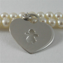 925 SILVER BRACELET WITH HEARTS AND GIRLS PENDANTS, FW WHITE PEARLS AND ZIRCONIA image 2