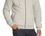 Slate & Stone Front Zip Faux Shearling Lined Hoodie Men's L Hoodie Light Grey