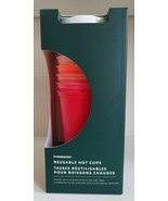 NEW Starbucks 2019 Winter Holiday Christmas Reusable HOT Cups 6 Pack Lid... - $59.40