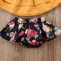 Summer Toddler Baby Kids Girls Sister Clothes Sets Strap Tops Sleeveless Vest Fl image 4