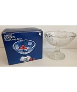 West Germany APPLE GARDEN Crystal Footed Pedestal Fruit Candy 5 inch tal... - $26.72