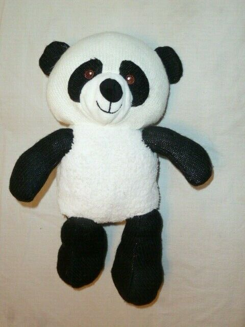 "Primary image for Spark Create Imagine Knit Black White 14"" Rattle Panda Bear Plush Toy"