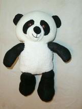 "Spark Create Imagine Knit Black White 14"" Rattle Panda Bear Plush Toy - $19.79"