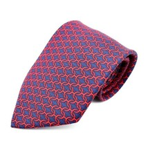 Hermes tie silk Navy Red Apparel Men's Auth - $374.20
