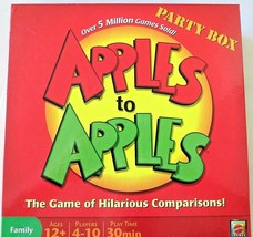 Apples to Apples Party Box Board / Card Game by Mattel ~  2007 ~ Family Fun! - $9.85