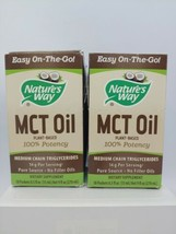 (2 Pack) Nature's Way MCT Oil from Coconut 18 Count. Exp 01/20 - $30.69