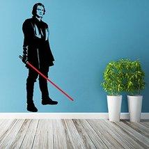 (20'' x 39'') Star Wars Vinyl Wall Decal / Anakin Skywalker with Lightsaber Die  - $30.48
