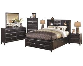 Ashley Kira 6PC Bedroom Set Queen Storage - Black - $3,200.19