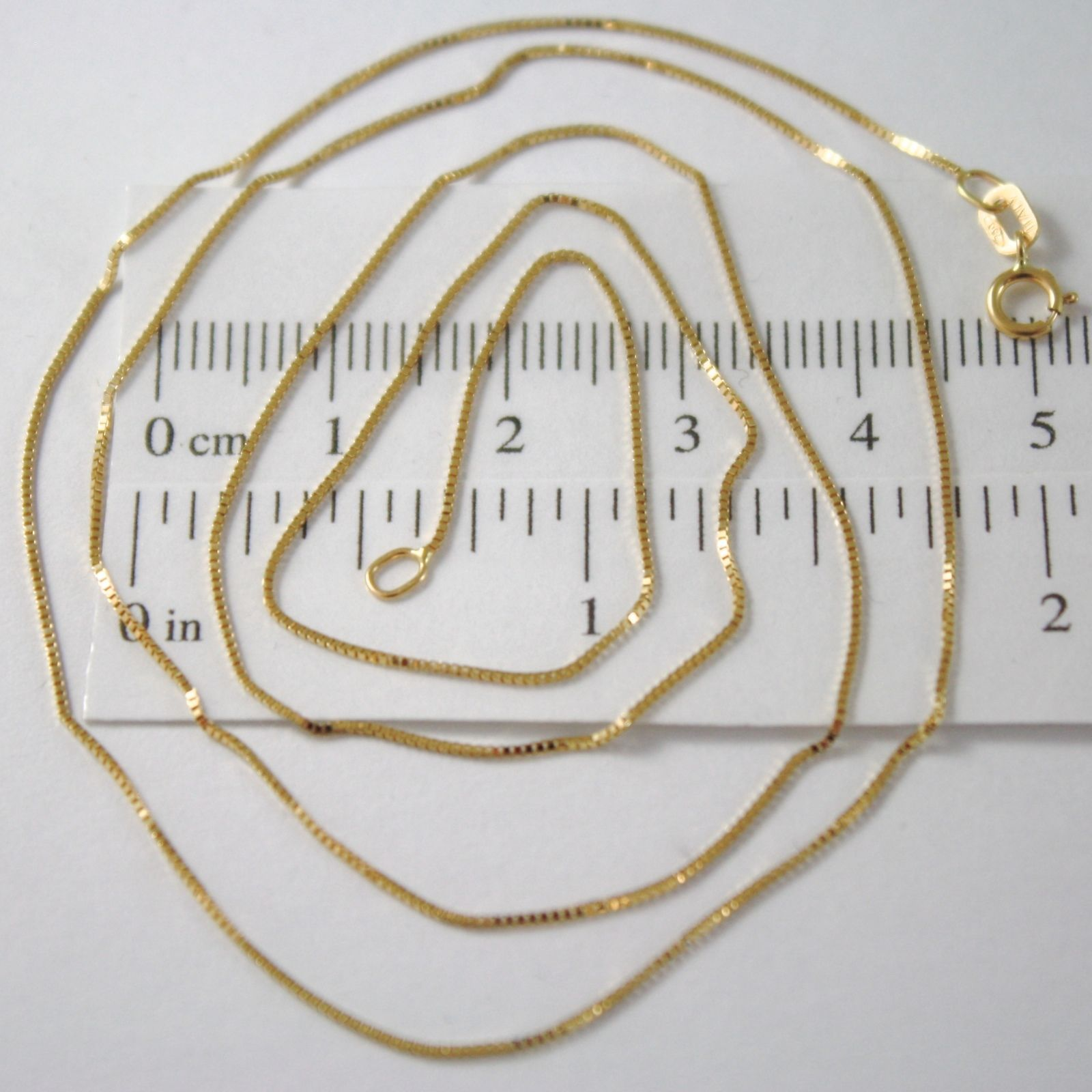 CHAIN VENETIAN SQUARED YELLOW GOLD 18K LENGTH 40 45 50 CM MADE IN ITALY