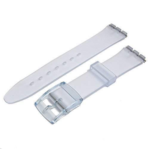 Primary image for Transparent Resin Watch Strap Band to fit Standard Swatch Watch 17mm choice of c