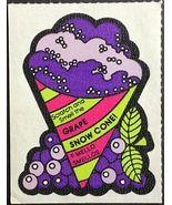 Vintage Mello Smello Grape Snow Cone Sticker Scented Scratch and Sniff - $8.99