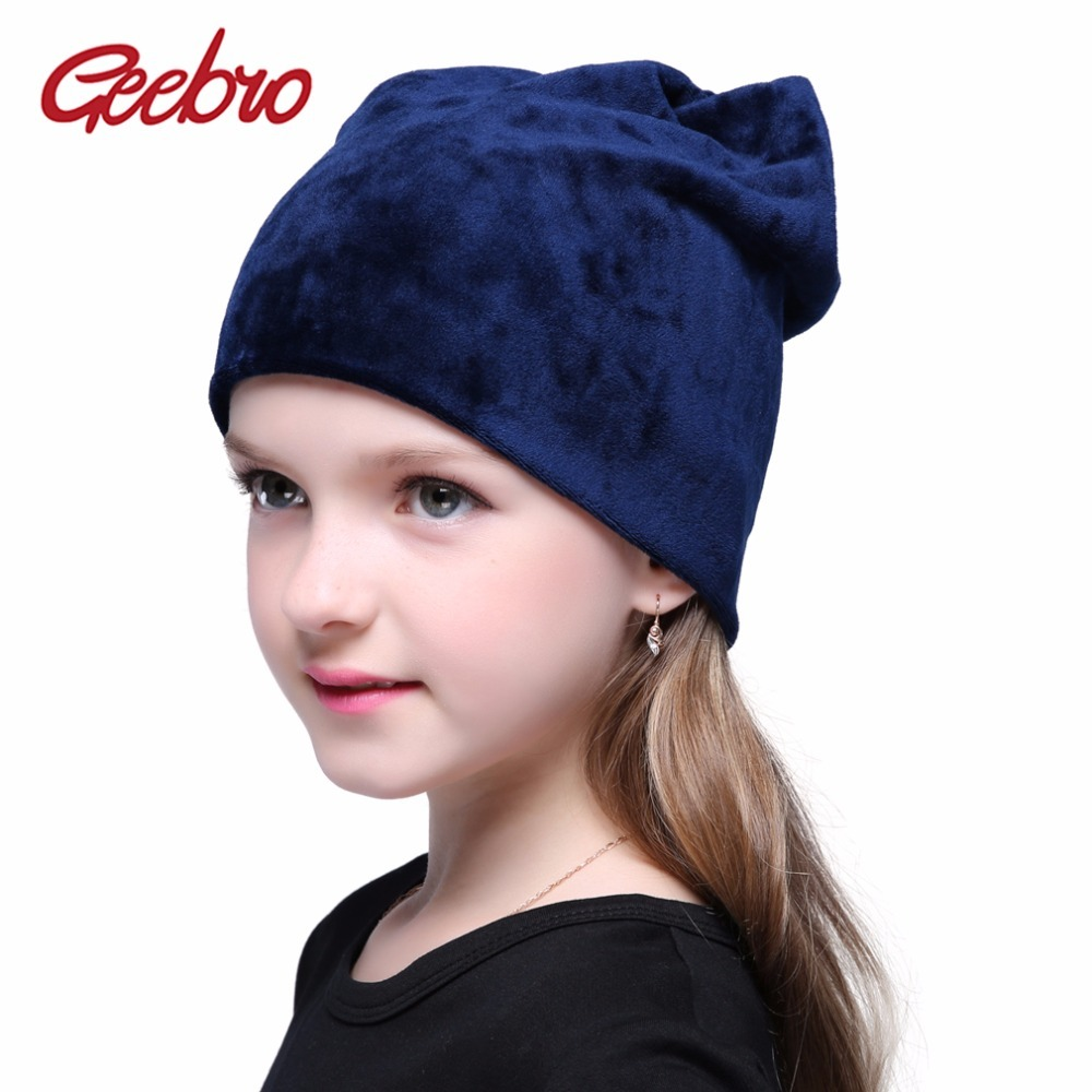c6e9bb3ba12 Nter girls beanie hat warm skullies beanies polyester knitted hats casual  velvet beanies hats 19