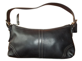 Coach Hamptons Black Leather Demi Bag 11195 - $23.50