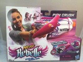 Nerf Rebelle Pink Crush Blaster with 4 Darts & Detachable Crossbow Arm NEW - $14.10