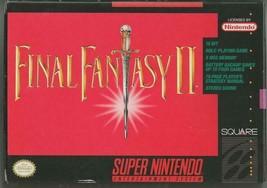 ORIGINAL Vintage 1991 Nintendo SNES Final Fantasy II CIB w/ map + manual - $373.78