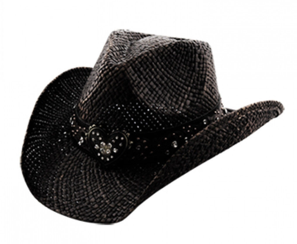 TX-150 Black Cowboy Hat Matching Heart Hat and 26 similar items 4e0154aa276e