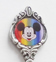 Collector Souvenir Spoon Mickey Mouse Disney Rainbow Colors - $9.99