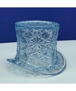 Fenton art glass top hat daisy button toothpick holder hobnail vtg Blue ... - $38.53