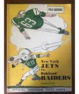 September 28, 1963 Oakland Raiders @ New York Jets NFL Program Polo Grou... - $99.00