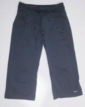 Womens Nike Fit Dry Capri Crop Athletic Yoga Pants Size XS Stretch Black Running - $14.97