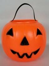 Vintage Empire Blow Mold Jack-O-Lantern Pumpkin Trick or Treat Bucket 1980 - $14.85