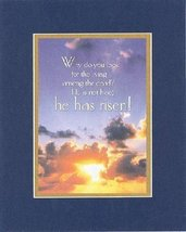 He has risen . . . 8 x 10 Inches Biblical/Religious Verses set in Double... - $11.14